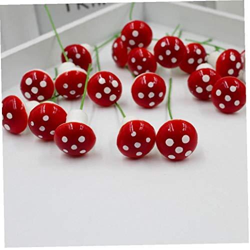 linjunddd 10Pcs Mini Red Pilz Miniatur-Schaum-Pilz-Fee-Miniatur-Garten-Verzierungen für Bonsai Micro Landschaft Dekor für Zuhause