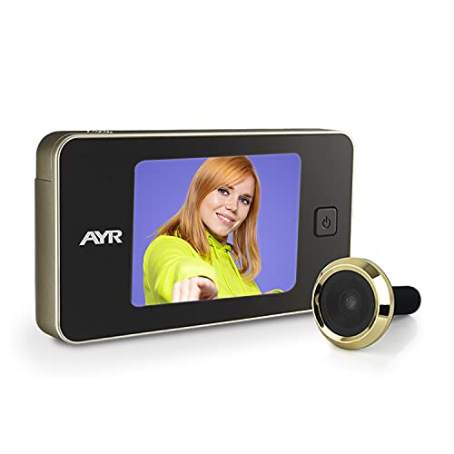 AYR 752 Mirilla Digital de Puerta, Latón, 125 x 68 x 15 mm
