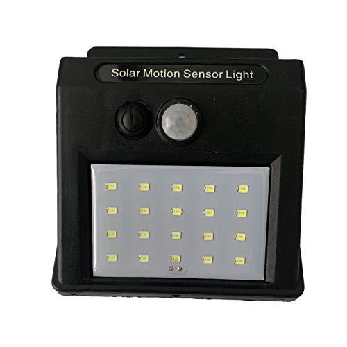 Ashley GAO 20 Luces solares LED Sensor de Movimiento Luz de Pared Lámpara de jardín al Aire Libre Lámpara Impermeable Luz Impermeable al Aire Libre