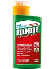 Roundup Express Konzentrat Unkrautvernichter gegen Unkräuter und Gräser, Ohne Glyphosat, bis zu 500m², 400 ml