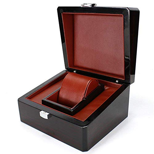 TIANYOU Watch Organizer Box Watch Holder Storage Watch Box Display Collection Case Men's 1 Slots Jewelry Display Storage Case Noble/Black/Small