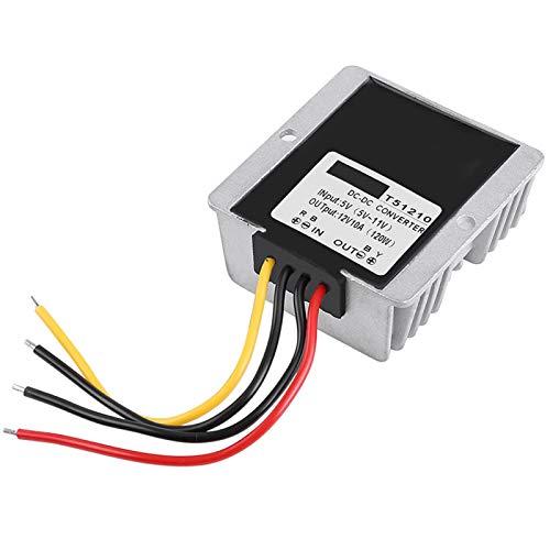 Convertidor de refuerzo, módulo de refuerzo de CC a CC Módulo de alimentación de refuerzo de 12 V 10 A duradero Módulo de aumento de potencia, para automóvil