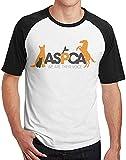 TTGHGH Camisas de manga corta ASPCA Raglan para hombre