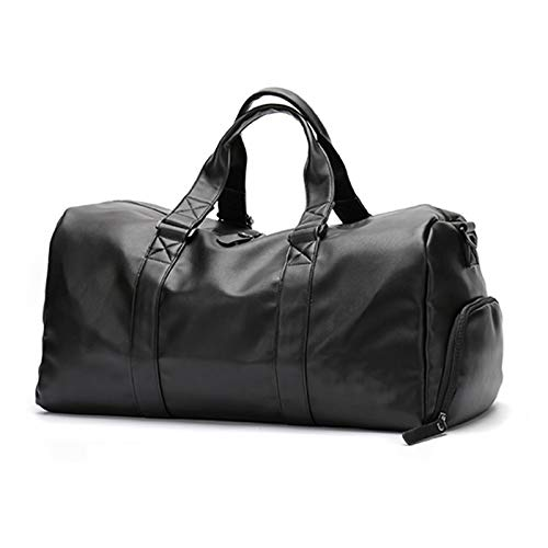 ATRNA Sport Duffle Gym Bag, Shoe Compartment with Wet Storage Travel Weekend Overnight Holdall Bag Swimming Yoga Workout Hiking Camping
