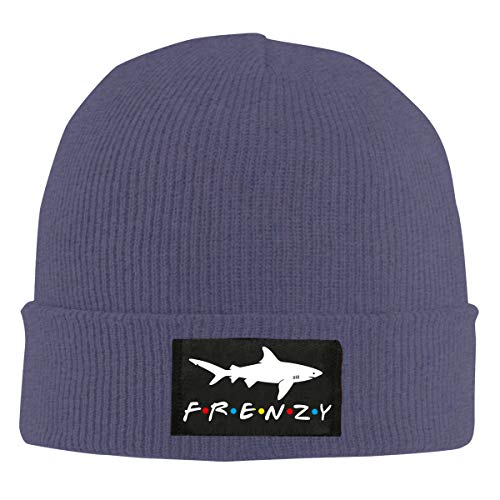 Fri-End_s Shark Fre-nz-Y Beanie Hat Winter Warm Knit Skull Hat Cap for Adults Mens/Womens Navy