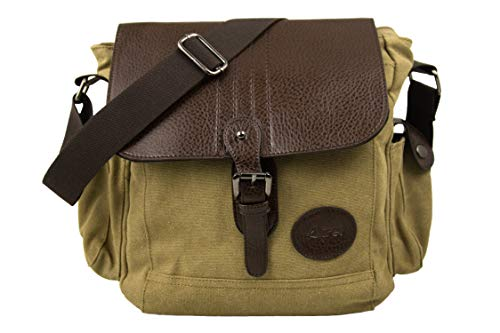 Airel Messenger Bag | Satchel Bag | Umhängetasche | Businesstasche | Schultertasche Stoff | Klein Schultertasche Massnahmen: 28x25x14 cm