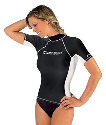 Cressi Rash Guard Camiseta con Filtro de Protección UV UPF 50+, Mujer, Negro, XS