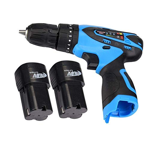 JF-XUAN Cordless Electric Drill Electric Drill Professional Rechargeable Cordless Electric Screwdriver Industrial Handheld Tool 16.8V(UK Plug)
