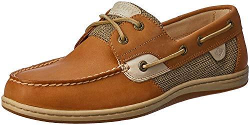 Sperry Womens Koifish Boat Shoe, Linen/Oat, 7 Wide