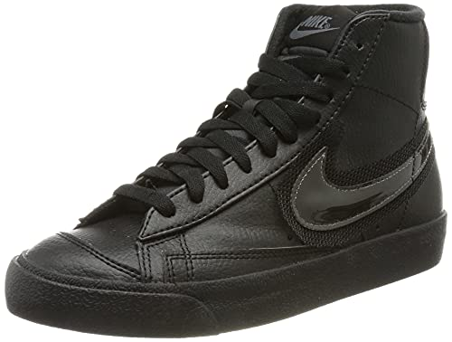 Nike Wmns Blazer Mid '77, Scarpe da Basket Donna, Black/Black-Dk Grey, 37.5 EU