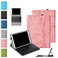 「Doo」新しい iPad 8 キーボード ケース 2020 iPad 10.2 キーボード カバー 第7世代 iPad Air3 10.5/iPad Pro 10.5に兼用 [ペンシルホルダー付き] [スマート3段階スタンド機能付き] [オートスリープ機能] キーボードカバ脱着式 分離式 両用 ケース かわいい 綺麗 薄型 軽量 高級ソフトPUレザー+帆布生地製 傷つけ防止 耐久性 全面保護 アイパッド 10.2 第8世代 携帯型 カバー(ピンク)