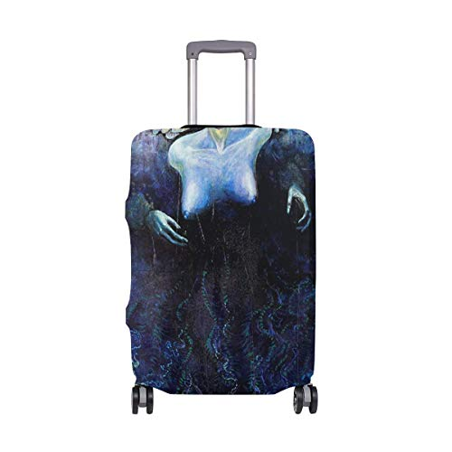 IUBBKI Travel Luggage Cover Sleep Sheeps Women Tree Suitcase Protector Fits M Washable Baggage Covers