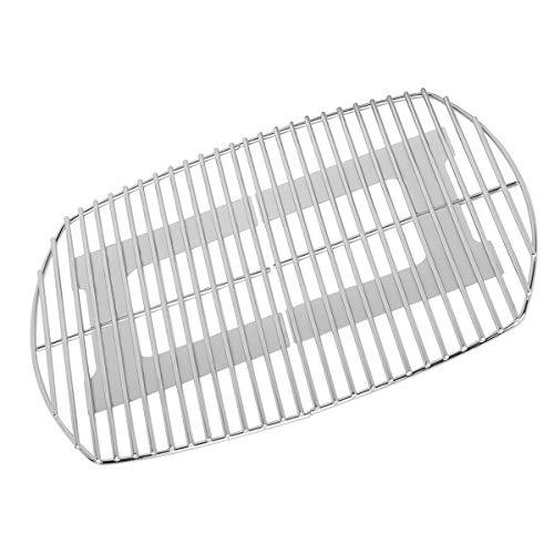 Onlyfire Grillrost Edelstahl,Ersatzrost passend (54.6 * 38.5 cm)für Gasgrill der Serien Weber Q200, Q220, Q2000, Q2200, Q2400