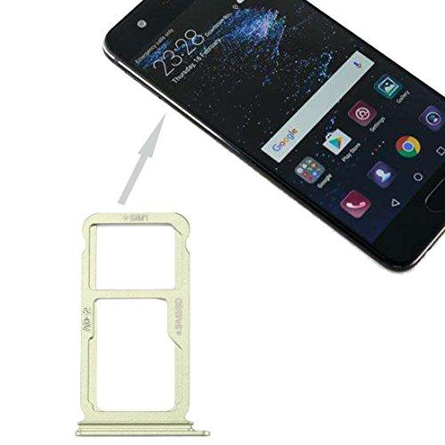 PANGTOU Zócalo de la tarjeta del teléfono celular para Huawei P10 Plus SIM bandeja de la tarjeta y SIM/Micro SD tarjeta bandeja accesorios del teléfono celular