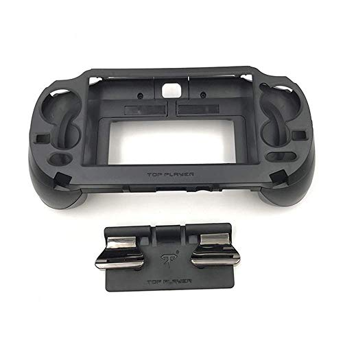 New Matte Non-Slip L3 R3 Hand Grip Handle Joypad Stand Case with L2 R2 Trigger Button Grips Holder for PSV 1000 PS VITA 1000 Game Console-Black.