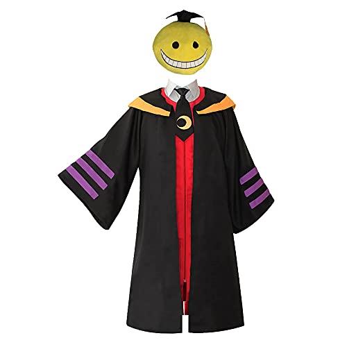 Assassination Classroom Korosensei Cosplay Costume Outfit Cloak Shirt E Class Teacher Traje de Disfraz de Cosplay Camisa de Capa Profesor de Clase E Traje de Capa de Traje de Cosplay con arns