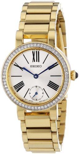 Seiko Classic - Reloj de Cuarzo para Mujer, con Correa de Acero Inoxid
