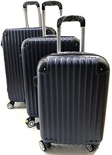 Ormi - Juego de maletas rígidas con 4 ruedas dobles de freno giratorias ampliables hasta 5 cm, súper ligero de alta calidad, juego de 3 piezas pequeñas medianas grandes Candado TSA