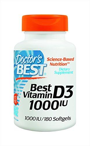 Doctor's Best Best Vitamin D3 1000 IU, Softgel Capsules, 180-Count