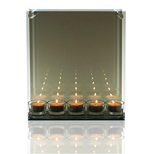 Ritzenhoff & Breker Glas- Reflektionsleuchter für Teelichter. Endlos- Infinity Leuchter, Teelichthalter mit Spiegeleffekt, Kerzenständer …
