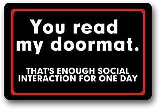 Best Non-Slip Entryways Funny You Read My Doormat, That