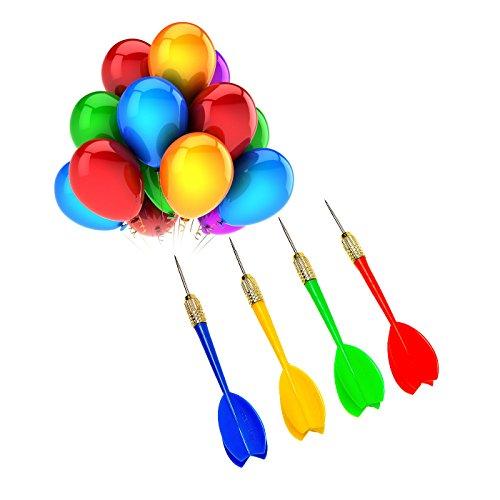 24 piezas de dardos (globos de dardos) de plástico con punta de acero para fiesta y...