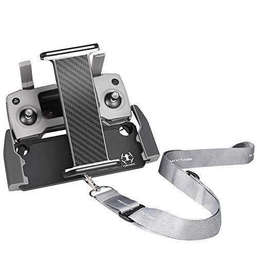UZOPI Mavic Air Pro Platinum Spark Tablet Holder – Aluminum Adjustable Remote Controller Accessories Bracket Mount Extender with Neck Lanyard Strap for 4-12 Inch Phone Tablets