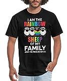 Rainbow Sheep of The Family LGBT Men's T-Shirt, 2XL, Black