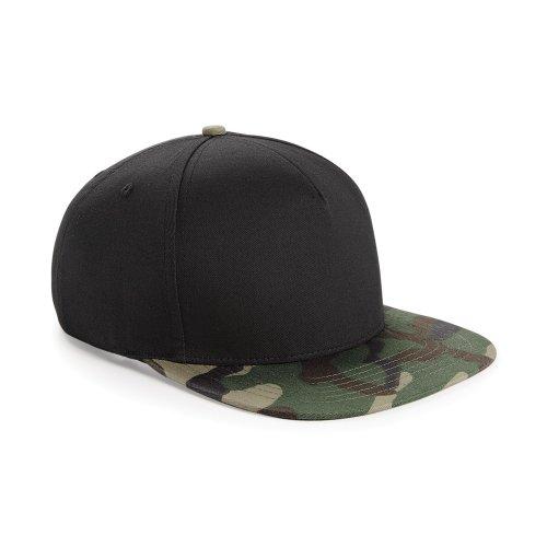 Beechfield - Casquette de baseball camouflage rétro - Homme (Taille unique) (Noir/Camouflage jungle)