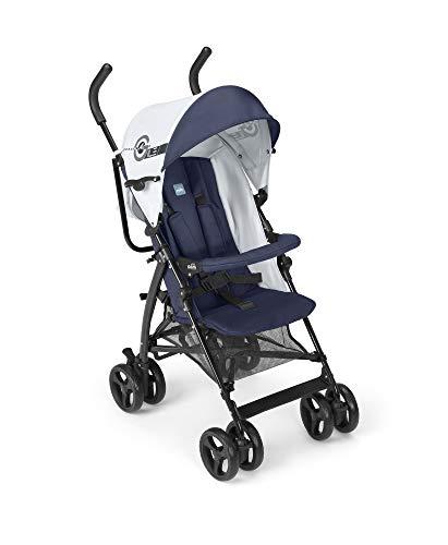 CAM Sportwagen & Buggy AGILE leicht, kompakt, klappbar - ideal zum Reisen | hochwertiger & sicherer Sitzbuggy mit Multipositions-Rückenlehne und 5-Punkt-Gurt | ab Geburt verwendbar (Space Blau)