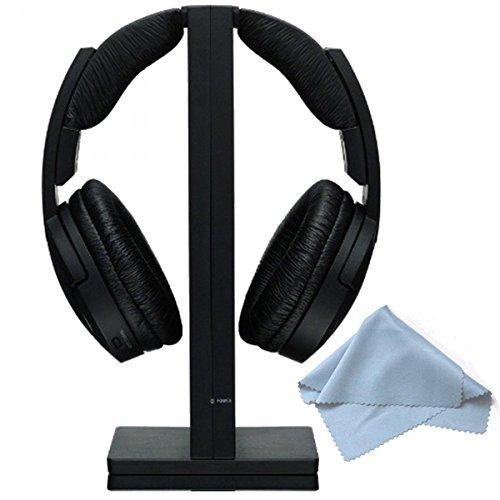 Sony MDRRF985RK Wireless RF Black Headphone & Polaroid Micro Fiber Cleaning Cloth With Storage Pouch