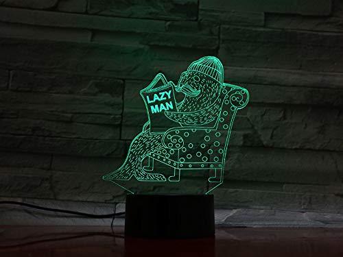 Animal Seal Kit seal lazy men 3D LED Night Light USB Lámpara de mesa Niños regalo de cumpleaños Decoración del hogar junto a la cama