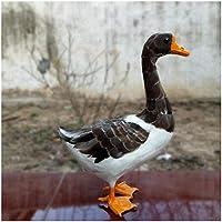 ガチョウモデル-シミュレートされた動物モデル野生動物のガチョウモデル置物-リアルな人工動物の羽毛のある灰色のガチョウの置物のおもちゃ-子供の誕生日プレゼントや家の装飾モデル