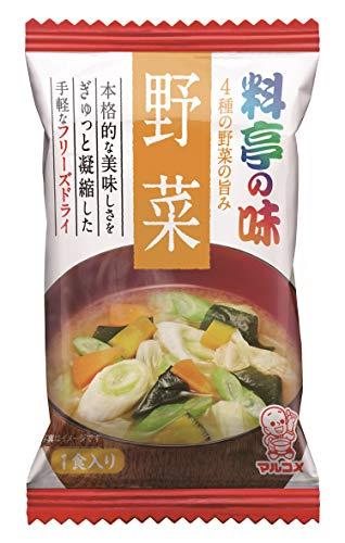 マルコメ フリーズドライ 料亭の味 野菜 即席味噌汁 9g×10個