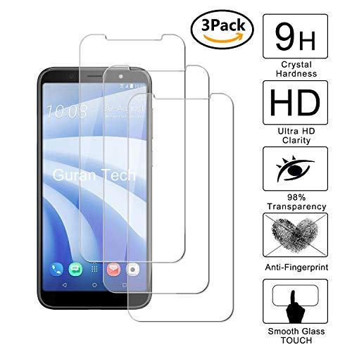 Guran [3 Pièces] Glass Protector pour HTC U12 Life Smartphone Screen Verre Trempé Protecteur d'écran Résistant aux éraflures