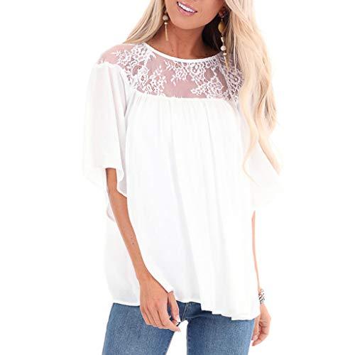Briskorry Damen Kurzarm T-Shirt Sommer Sonnenblumendruck Tee Beiläufig Lose Bluse Tunika Tops OverSize T Shirts