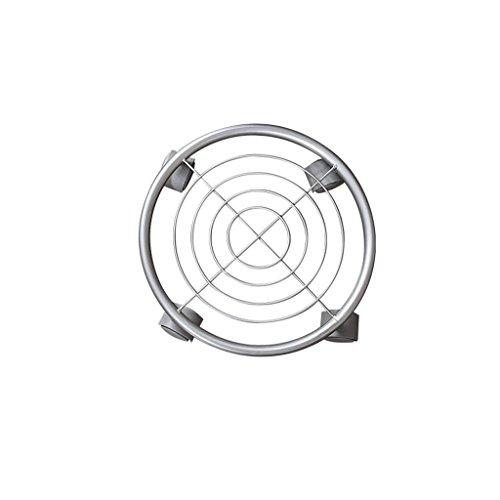 Plateau de disque circulaire supports de pot de fleur mobiles Base de support de fleur de fer