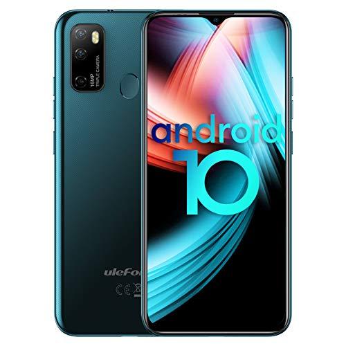 "Handys ohne Vertrag Octa-Core, Ulefone Note 9P Smartphones 6,52\"" Dot Drop Anzeige, 4GB+64GB, 4500mAh, 16MP+8MP Kamera, 3-Karten-Steckplatz, Android 10, OTG, WLAN 5G, Fingerabdruck, 4G Dual SIM (Grün)"