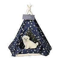 Surrui1 ペットテント 折りたたみ ハウス 犬テント 犬 ティピーテント 中型 テント 猫テント ペットハウス ペット用寝袋 猫 犬用 犬小屋 人気 猫ハウス おしゃれ クッション付き ペット用品 洗濯可能