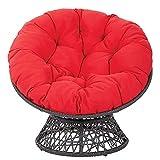Aisima Rundes Gepolstertes Sitzkissen, Papasan Outdoor Egg Nest Chair Pads Runde Hängesessel Schaukel Stoffkissen (Ohne Stuhl),105 * 105cm