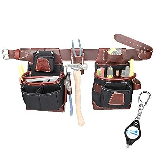 Occidental 8580 Medium Leather FatLip Tool Bag Set with Keychain Light