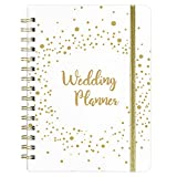 """Wedding Planner - Wedding Planning Book, 8.4"""" x 6.3"""", Great Wedding Planner Book and Organizer with Hardcover and Elastic Binder for Couples, Timeline & Calendar, Guest Planning, Venues & Suppliers"""