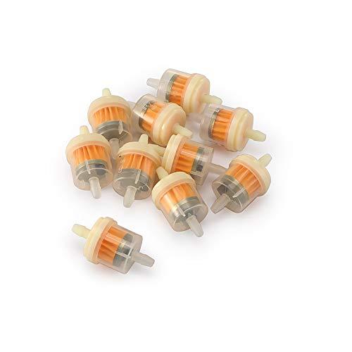 KKSONICE 10 filtri per benzina, filtro carburante, 6 mm, resistenti e rimuove le impurità, per motorini e scooter GoKart