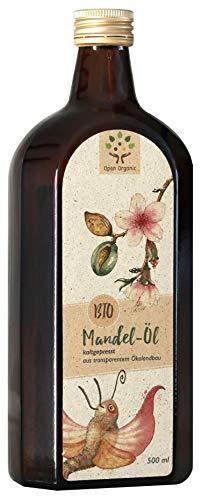 Bio-Mandelöl (500ml) kaltgepresst im Schwarzwald aus spanischen Süßmandeln