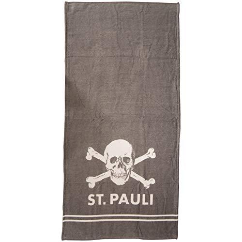 FC St. Pauli Duschtuch/Badetuch ** Totenkopf Grau ** SP131802