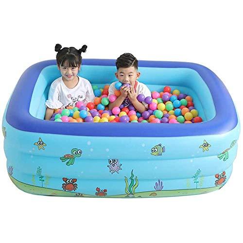 MLGTCXB Piscina Hinchable Infantil Piscinas para niños, Set fácil para niños, Adultos, famaily, Fiestas, Vacaciones de Verano con Agua, Bolas Marinas y Arena,1.5M