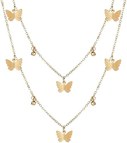 LKLFC Collar Mujer Collar Hombre Collar Vintage Oro Retrato Perla Colgante Collares para Mujer Bohemia Perla Collar Largo Joyería Regalo Niñas Niños Collar