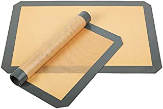 Non-Stick Silicone Baking Mat - Black cut corner Silicone Heat Resistant Oven Mats Baking pastry tools Size Sheet 42X29.5cm