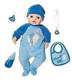 Zapf Creation 701898 Baby Annabell Puppe Alexander mit lebensechten Funktionen und Zubehör 43 cm,...