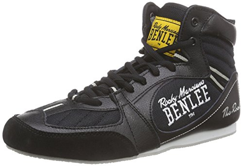 BENLEE Rocky Marciano Herren Boxing Boots The Rock, Black/Concrete Grey, 42, 199036
